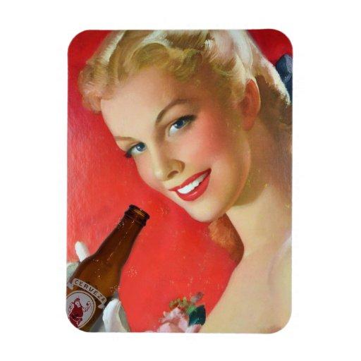 Iman Anuncio Cerveza Vintage de RetroCharms Iman Flexible