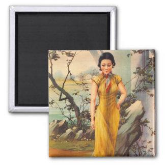 Imán Anuncio chino del cigarrillo de la mujer del