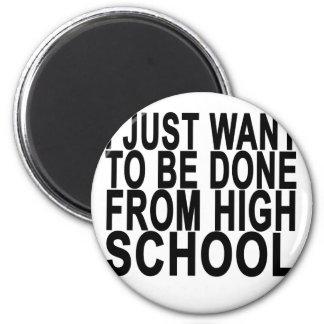 Imán Apenas quiera ser High School secundaria hecha de