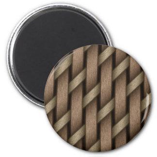 Imán Armadura de Brown de la materia textil de la cesta