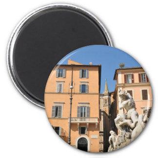 Imán Arquitectura italiana en la plaza Navona, Roma,