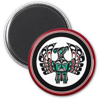 Imán Arte del noroeste Thunderbird del Haida de la