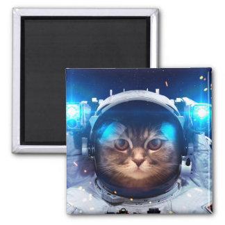 Imán Astronauta del gato - gatos en espacio - espacio