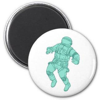 Imán Astronauta que flota en el dibujo del espacio