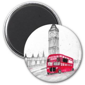 Imán Autobús rojo Londres