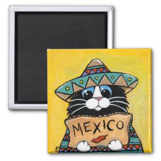 Imán Autostopista caprichoso del mexicano del gato del