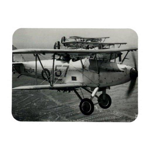 Imán - avión histórico - ciervo del vendedor ambul