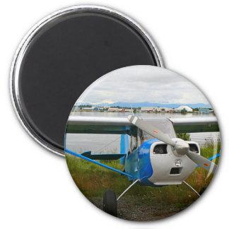 Imán Aviones de ala alta, azul y blanco, Alaska