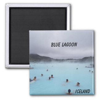 Imán azul de Islandia de la laguna