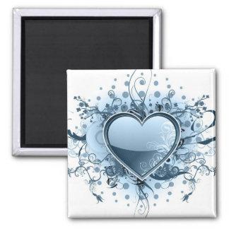Imán azul del corazón de Emo