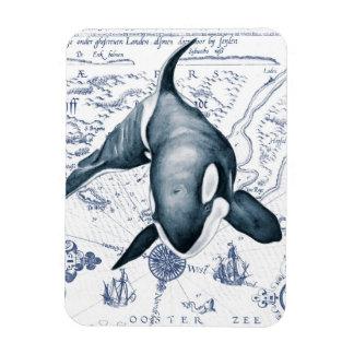 Iman Azul del mapa de la orca