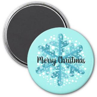 Imán azul del regalo del copo de nieve de las
