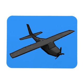Imán azul gris simple del recuerdo del avión de pr