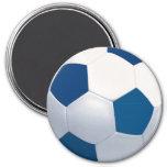 Imán azul y blanco del balón de fútbol