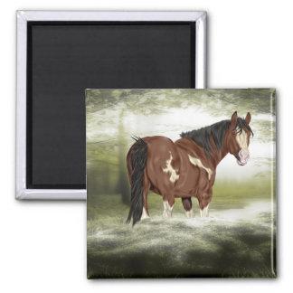 Imán Bahía y caballo de la pintura de Overo del