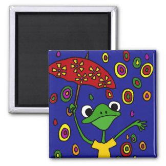 Imán Baile glorioso de la rana de los CB en la lluvia