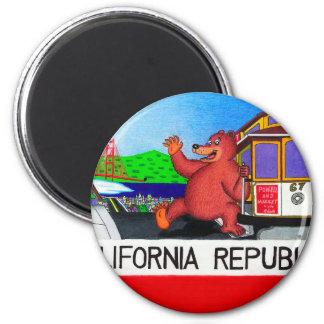 Imán Bandera 2 del oso de San Francisco California