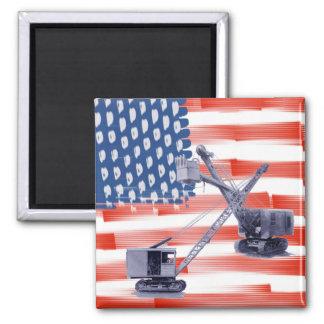 Imán Bandera americana del noroeste del operador y de