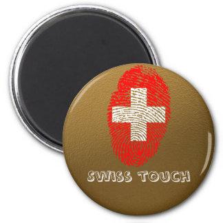 Imán Bandera de la huella dactilar del tacto del suizo