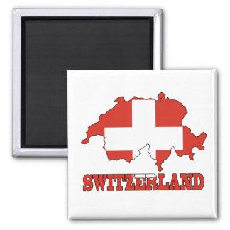 Imán Bandera en el mapa de Suiza