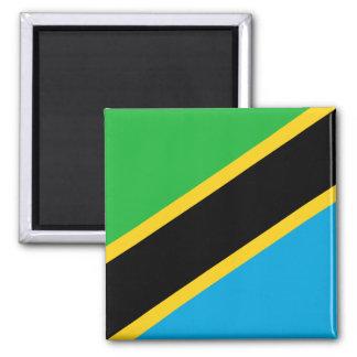 Imán Bandera nacional del mundo de Tanzania
