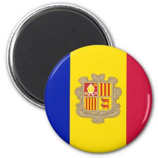 Imán Bandera patriótica de Andorra