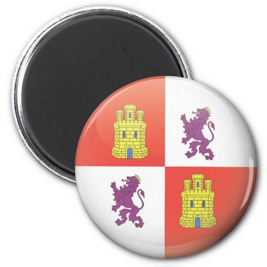 Imán Bandera y escudo de Castilla y León