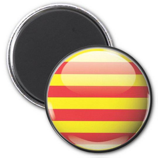 Imán Bandera y escudo de Cataluña