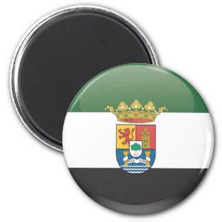 Imán Bandera y escudo de Extremadura