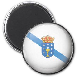 Imán Bandera y escudo de Galicia