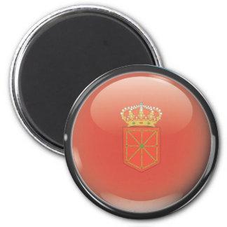 Imán Bandera y escudo de Navarra