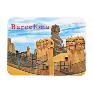 Imán Barcelona. Gaudí. Casas Milà. Vista del tejado