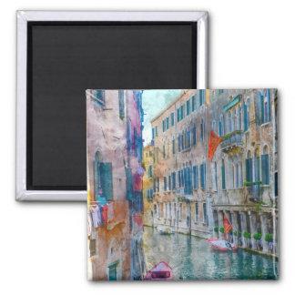 Imán Barcos de Venecia Italia en el Gran Canal