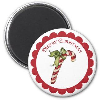Imán Bastón de caramelo del navidad del vintage en el