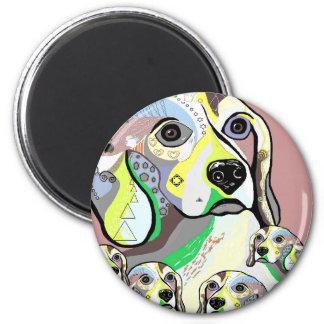 Imán Beagle y paleta de colores suave de los bebés