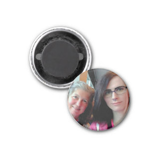 Imán Becky and Lily Round Magnet