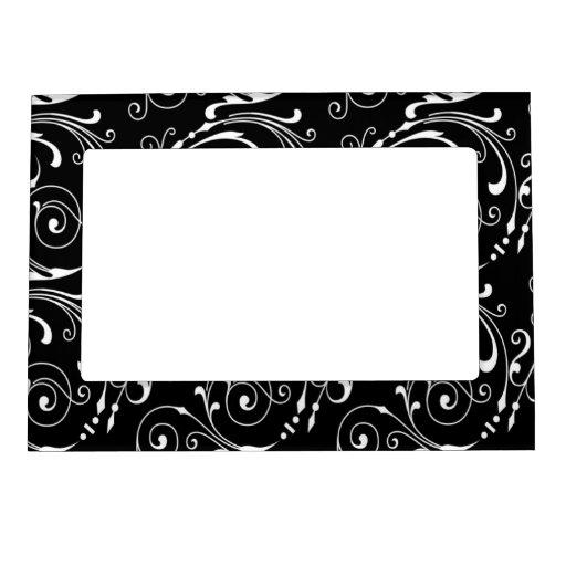 Imán blanco y negro del marco foto de imanes
