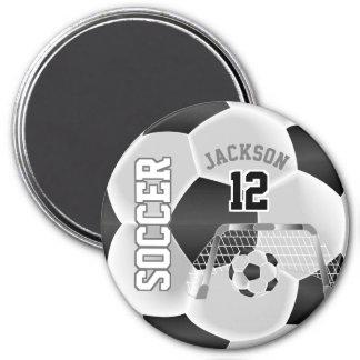 Imán Blanco y negro personalice el balón de fútbol