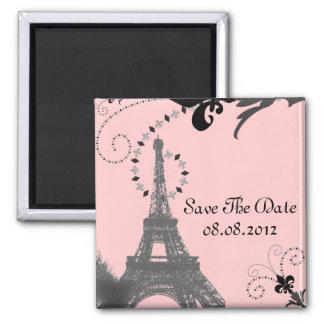 Imán Boda romántico de París de la torre Eiffel del