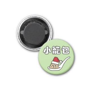 Imán Bola de masa hervida china Dim Sum Santa ha de la