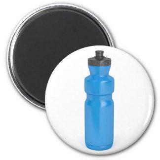 Imán Botella plástica azul