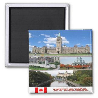 Imán CA - Canadá - Ottawa - collage del mosaico