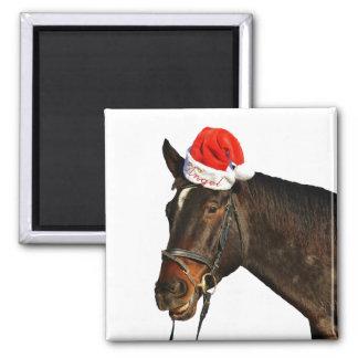 Imán Caballo santa - caballo del navidad - Felices