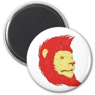 Imán Cabeza del león con el dibujo de la melena que