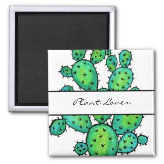 Imán Cactus espinoso de la acuarela magnífica
