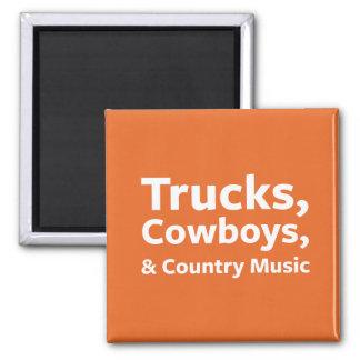 Imán Camiones, vaqueros y música country