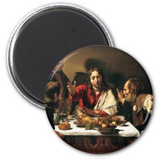 Imán Caravaggio - cena en Emmaus - pintura clásica