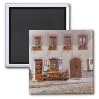 Imán Casa en el pueblo del gruyere, Suiza