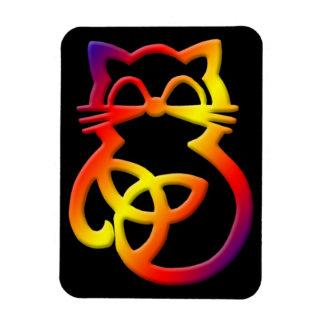 Imán céltico del gato del nudo de la trinidad del