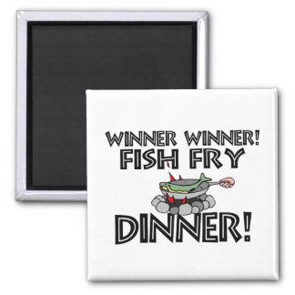 Imán Cena de la fritada de pescado del ganador del